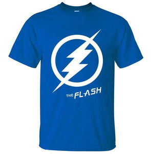 T-Shirt Pour Homme The Flash - Bleu / S - T-Shirts Arrow Barry Allen Comics Dc Flash