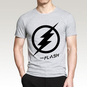 T-Shirt Pour Homme The Flash - Gris / S - T-Shirts Arrow Barry Allen Comics Dc Flash