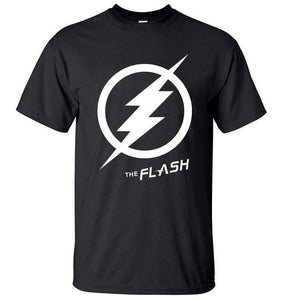 T-Shirt Pour Homme The Flash - Noir / S - T-Shirts Arrow Barry Allen Comics Dc Flash