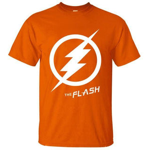 T-Shirt Pour Homme The Flash - Orange 2 / S - T-Shirts Arrow Barry Allen Comics Dc Flash