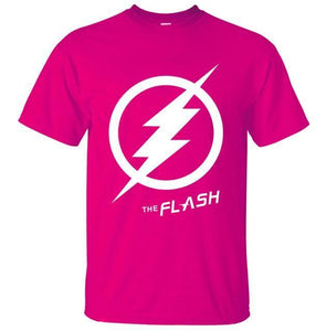 T-Shirt Pour Homme The Flash - Rose 2 / S - T-Shirts Arrow Barry Allen Comics Dc Flash