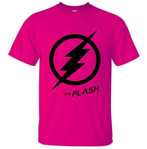 T-Shirt Pour Homme The Flash - Rose / S - T-Shirts Arrow Barry Allen Comics Dc Flash