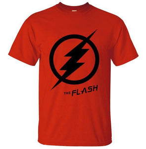 T-Shirt Pour Homme The Flash - Rouge 2 / S - T-Shirts Arrow Barry Allen Comics Dc Flash