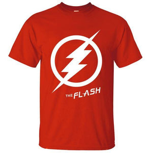 T-Shirt Pour Homme The Flash - Rouge / S - T-Shirts Arrow Barry Allen Comics Dc Flash