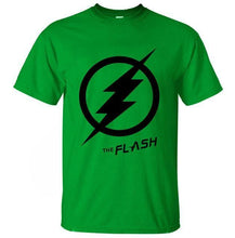 T-Shirt Pour Homme The Flash - Vert 2 / S - T-Shirts Arrow Barry Allen Comics Dc Flash