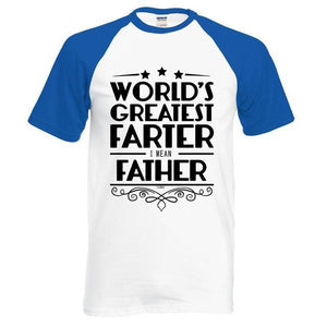 T-Shirt Pour Homme Worlds Greatest Farter I Mean Father - Bleu / S - T-Shirts Drôle Farter Father Fun World