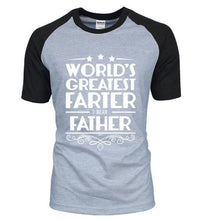 T-Shirt Pour Homme Worlds Greatest Farter I Mean Father - Noir/gris/blanc / S - T-Shirts Drôle Farter Father Fun World