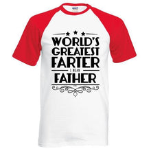 T-Shirt Pour Homme Worlds Greatest Farter I Mean Father - Rouge / S - T-Shirts Drôle Farter Father Fun World