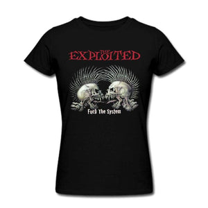 T-Shirt The Exploited Fu*k The System - - T-Shirt Femme Anarchie