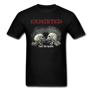 T-Shirt The Exploited Fu*k The System - - Homme Anarchiste