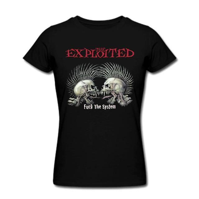 T-Shirt The Exploited Fu*k The System - S - T-Shirt Femme Anarchie