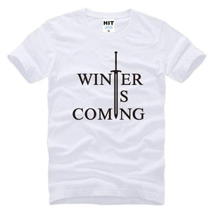 T-Shirt Winter Is Coming - Blanc / S - T-Shirt Game Of Thrones Pour Hommes Winter Is Coming