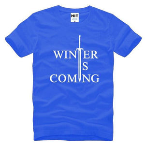 T-Shirt Winter Is Coming - Bleu / S - T-Shirt Game Of Thrones Pour Hommes Winter Is Coming