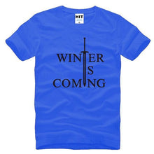 T-Shirt Winter Is Coming - Bleu/noir / S - T-Shirt Game Of Thrones Pour Hommes Winter Is Coming