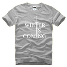 T-Shirt Winter Is Coming - Gris / S - T-Shirt Game Of Thrones Pour Hommes Winter Is Coming