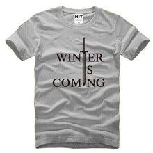 T-Shirt Winter Is Coming - Gris/noir / S - T-Shirt Game Of Thrones Pour Hommes Winter Is Coming