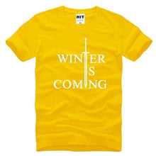 T-Shirt Winter Is Coming - Jaune / S - T-Shirt Game Of Thrones Pour Hommes Winter Is Coming