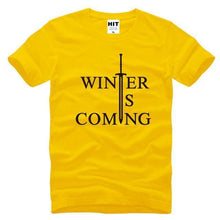 T-Shirt Winter Is Coming - Jaune/noir / S - T-Shirt Game Of Thrones Pour Hommes Winter Is Coming