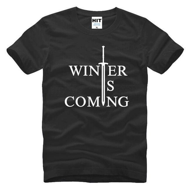 T-Shirt Winter Is Coming - Noir / S - T-Shirt Game Of Thrones Pour Hommes Winter Is Coming