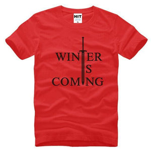 T-Shirt Winter Is Coming - Rouge/noir / S - T-Shirt Game Of Thrones Pour Hommes Winter Is Coming
