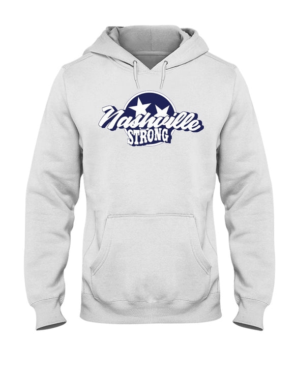 Nashville Strong (Official) - Jerzees 50/50 Hoodie - Text Logo