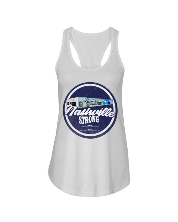Nashville Strong (Official) - Next Level Ladies Racerback Tank - BC Round