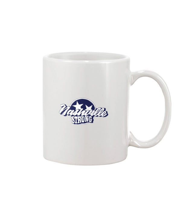 Nashville Strong (Official) - 11oz Mug - Text Logo