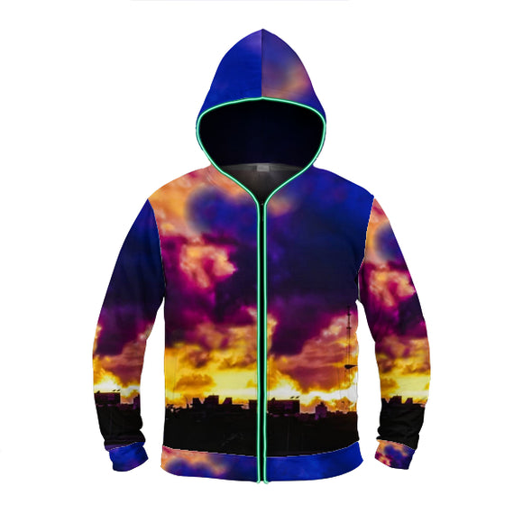AAC: CRB-O Photography: Sunset from East Nashville Light-Up Hoodie