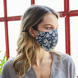 Triple Layer Floral Reusable  Facemask