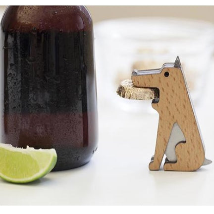 Fetch dog would and metal bottle opener by kikkerland