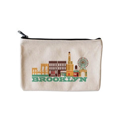 Brooklyn cityscape zippered pouch