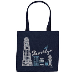 Brooklyn navy tote by claudia pearson