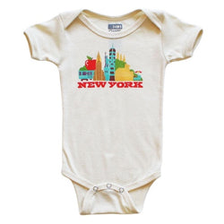 NY Cityscape Organic natural baby onesie by AGL