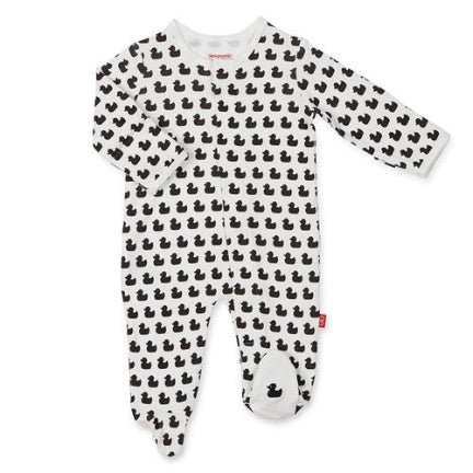 Quack N Roll Organic  Cotton magnetic Footie by mahnetic me