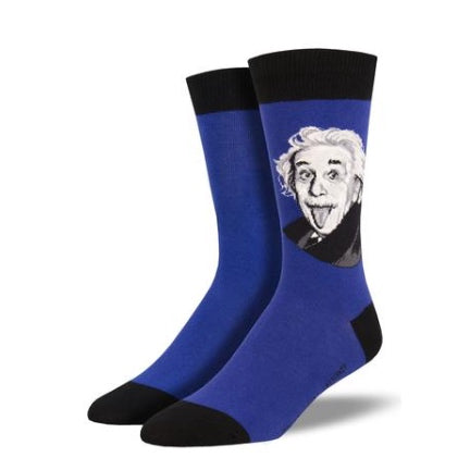 Einstein mens crew socks blue