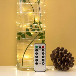 Extra long string lights with controls by kikkerland