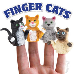 Finger cats .set of 4 finger cat puppets