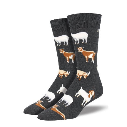 Billy goat mens socks grey