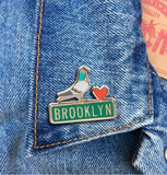 Brooklyn Pigeon Enamel Pin