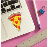 Pizza Hearts Sticker