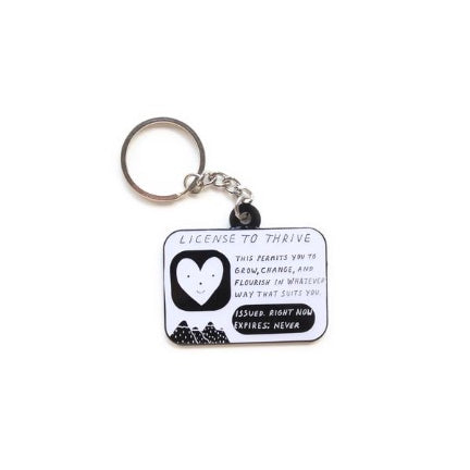 License To Thrive Key Ring