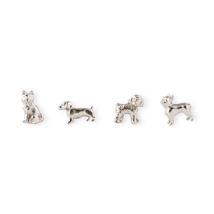 Cast metal dog silver super strong magnets