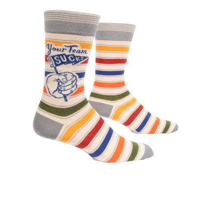 Your team sucks socks  striped  by blue @