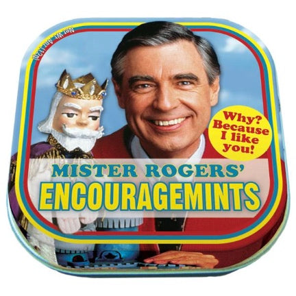 Mister Rogers encouragemints tin