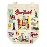 new york Icon canvas natural tote