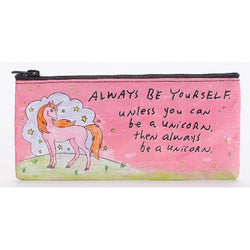 unicorn zipped pencil pouch