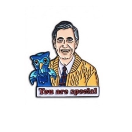 "mister Rogers enamel pin "" You are Special """