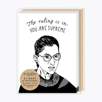 "Ruth bader ginsburg boxed cards . "" you are supreme """