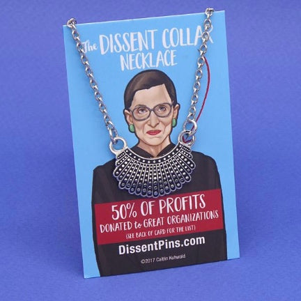 RBG Dissent collar necklace