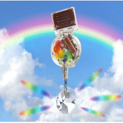 Solar Powered Rainbow maker with swarovski crystal by kikkerland